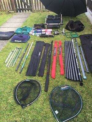 Full Set Of Fishing Tackle Rods Reels Poles Tackle Joblot Full Set Up  • 255£