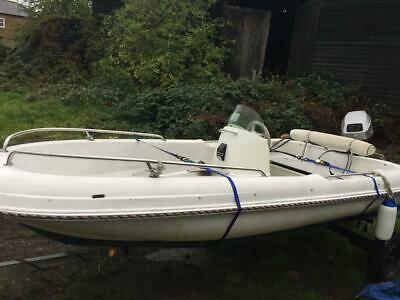 River Boat With Outboard Engine  • 1,800£