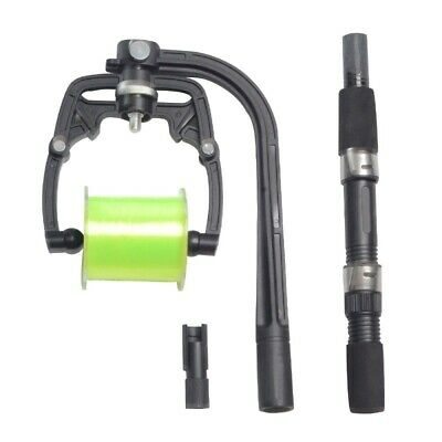 Fishing Reel Line Winder Spooler Machine Holds Multiple Spools Fully Adjustable • 21.98£