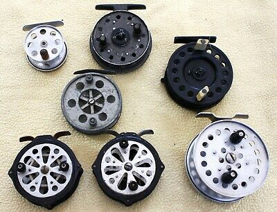 Seven Old  Centrepin Reels • 8.50£