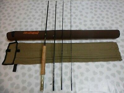 Custom Built Peregrine R3 8ft 3in 4/5 Wt 4 Piece Fly Rod With Sage Rod Tube • 0.99£