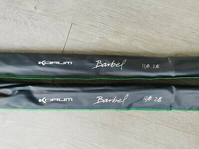 Korum Barbel Rods	12' - 2.0lb Test X2 (Pair) - Never Used - Latest Version • 41£