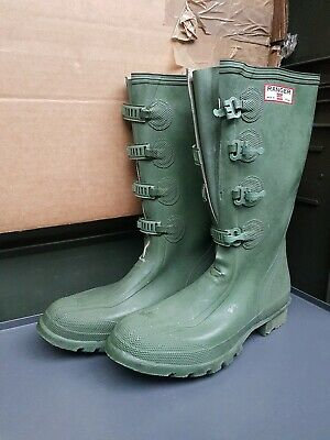 Uniroyal Ranger Made In Britain Green Rubber Wellies Wellington Boots  • 89.99£