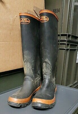 Vintage New Old Stock BTR Super Lincoln Wellingtons Wellies Rubber Boots UK 6 • 149.99£