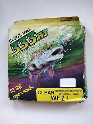 CORTLAND 333HT WF 7 I Rocket Taper CLEAR 30 YARDS FLYLINE.  Made In USA. • 0.99£