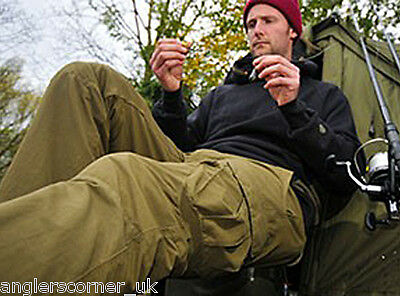 Korda Polar Kombats - Fleece Lined Carp Fishing Combat Trousers - All Sizes • 64.99£