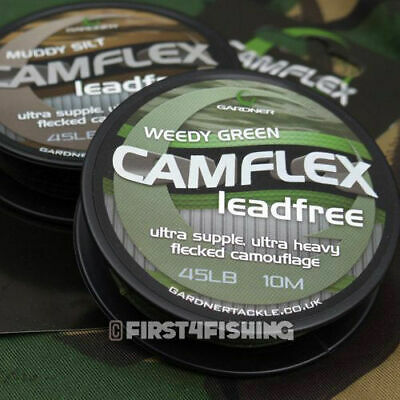 Gardner Tackle Camflex Leadfree Leader - Carp Barbel Catfish Coarse Fishing Line • 11.50£