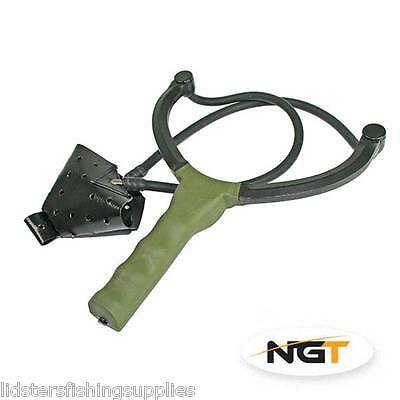 New Ngt Quality Made Carp Fishing Catapult For Bait Boilies Pellets Feed Green • 14.95£