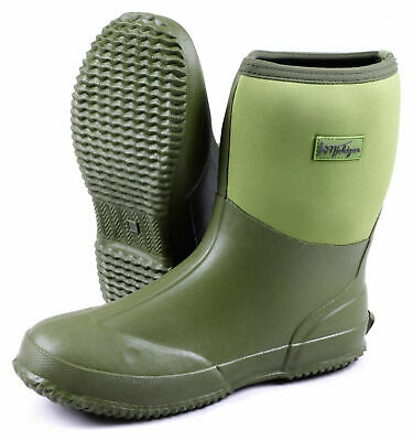 Michigan Green Neoprene Waterproof Outdoor Garden Wellington Boots • 19.99£