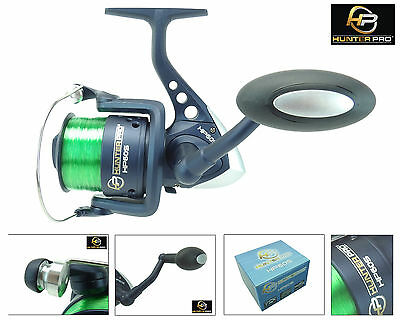 Sea Fishing Reel Carp Pike Spinning  Reel Hunter Pro® 60s With 15lb Line New! • 13.99£