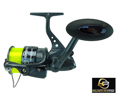 Sea Fishing Reel Hunter Pro® 70s Surf With 20lb Line Pike Spinning Reel • 15.99£