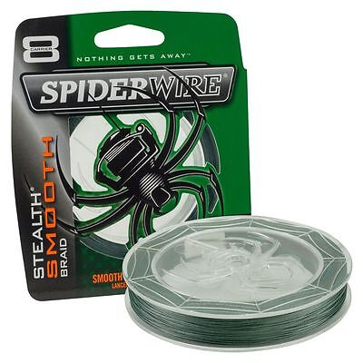 Spiderwire Stealth SMOOTH 8 Fishing Braid - GREEN - All Breaking Strains • 13.25£