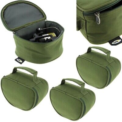 3 X New NGT Deluxe Green Reel Case Bag Carp Pike Fishing Tackle 108 Fit Big Pit • 22£