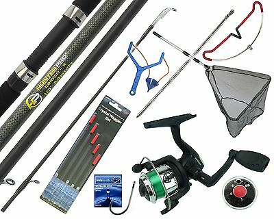 Complete Starter Fishing Tackle Set Kit With Hunter Pro® Rod Reel Tackle & Net 	 • 34.99£