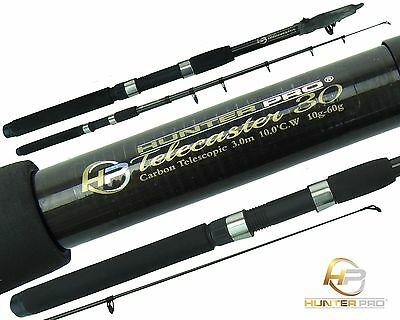 Telescopic 6ft 7ft 8ft 10ft Fishing Rod Carbon Travel Stalking Pike Spinning Rod • 15.99£