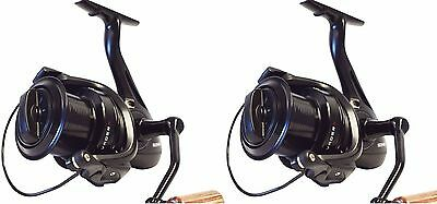 2 X Sonik Vader X 8000 Big Pit Carp Reels With Spare Spools NEW Fishing • 99.95£