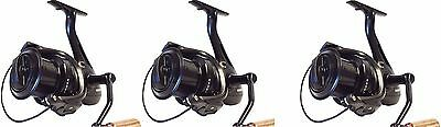 3 X Sonik Vader X 8000 Big Pit Carp Reels With Spare Spoos NEW Fishing • 144.95£