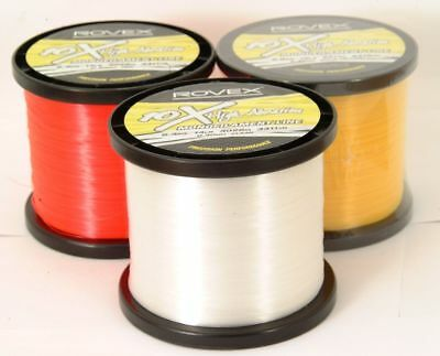 ROVEX 10X HIGH ABRASION SEA FISHING LINE..1/4kg .. BULK SPOOL.. RED/YELLOW/CLEAR • 13.99£