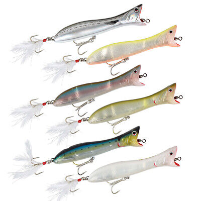 Savage Gear Saltwater Panic Popper Surface Lures - Bass Pike GT Fishing Tackle • 8.99£