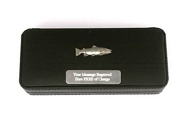 Brown Trout Black Ball Point Pens In Gift Case Fishing Gift 044 • 24.99£