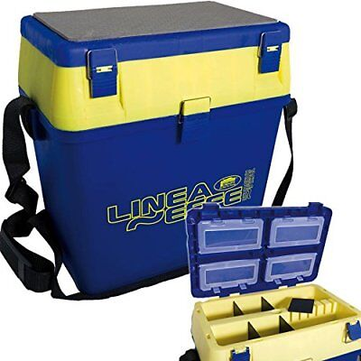 Lineaeffe Blue Seat + Tackle Fishing Box With Strap Seat Pad Sea Boat Carp • 26.95£