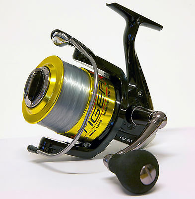 7+1 Bb Tiger 870 Fixed Large Sea Fishing Beach Pier Reel 30lb Line Lineaeffe • 29.95£
