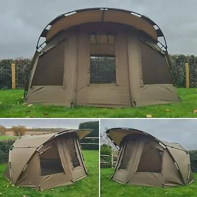 Quest MK2 2 Man Bivvy & Overwrap Carp Fishing Overnight Shelter Tackle 1 Brolly • 249.99£