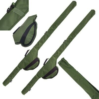 2 10 Ft Rod + Reel Holdall Sleeve Bag Carp Fishing Padded For Made Up Rods (516) • 31.05£
