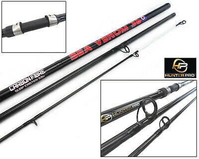 Hunter Pro 12ft Carbon Beach Caster Rod Surf Casting Sea Fishing Rod 3.6m  • 27.99£