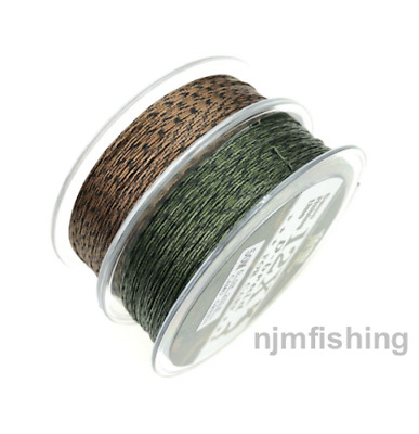 50m Supple Camo Brown/Green Braid Hooklink 25/35lb Carp Fishing Terminal Tackle  • 8.99£