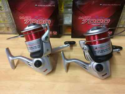 2 X Long Cast 7000 Big Pit Carp/Spod/Marker Float Fishing Reels And Line • 21.99£