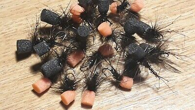 3 Black Popper Hoppers Size 10 Or 14 Trout Flies Barbless Or Barbed • 2.70£