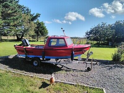 Sea Fishing Boat , Trailer And Engine 25hp 4 Stroke • 1,200£
