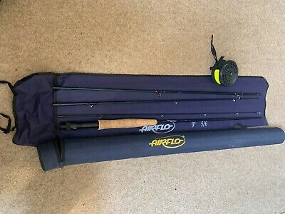 Airflo 9ft 5/6 Fly Fishing Kit With Box And Reel • 32£