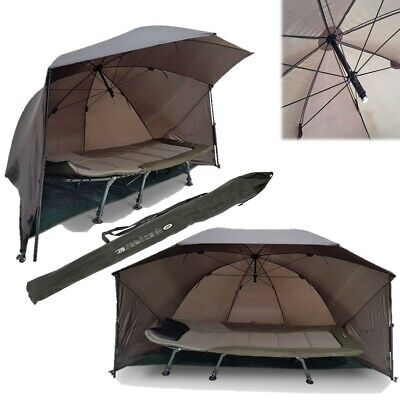 Ngt Fishing Umbrella Carp Shelter Brolly With Sides And Storm Poles 60  Quick • 59.95£