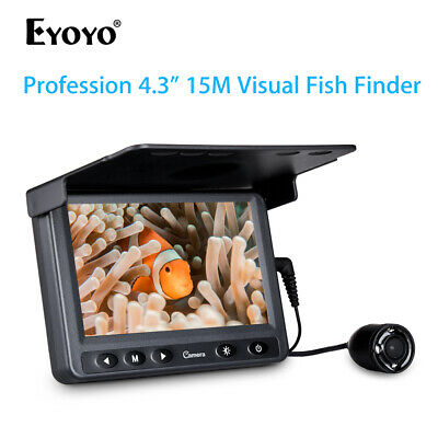 HD 1000 TVL Infrared LED Waterproof Fishing Camera Fishfinder 4.3  LCD Monitor • 65.87£