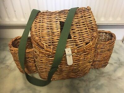 Wicker Fishing Creel With Side Pockets • 8.50£