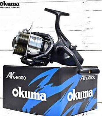 Okuma AK 6000 Baitrunner  Carp Reel Preloaded With 15lb Camo Line • 34.95£