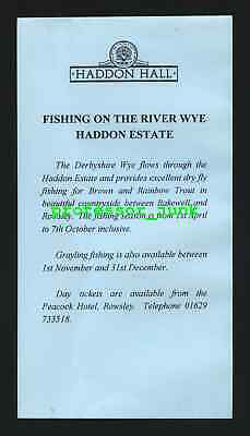 HADDON HALL - Fly Fishing On The River Wye - TROUT - Derbyshire BAKEWELL Rowsley • 2.49£