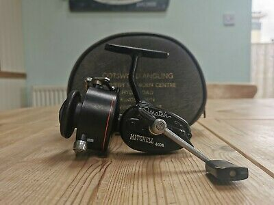 Vintage Black Mitchell Match 440A Fishing Reel In Excellent Condition • 65£