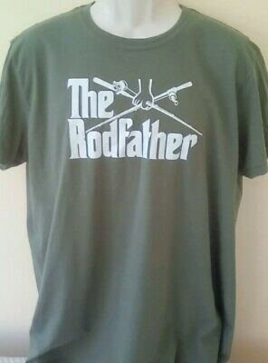 THE RODFATHER Novelty Angling T Shirt, XL Adult • 5.99£