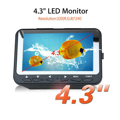 4.3  15M Fish Finder 8 Infrared LED HD 1000 TVL IP68 Waterproof Fit Ice,Boat,Sea • 91.92£