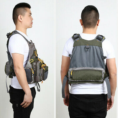 Lightweight Universal Fit Fly Fishing Vest Backpack With Fly Storage • 25.40£