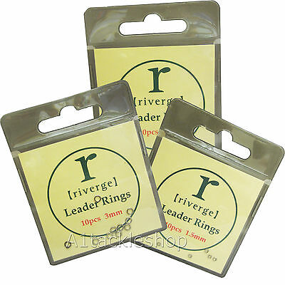 Riverge Leader/Tippet/Fly Silver Rings 10 Per Packet Choose 1.5mm 2.0mm Or 3.0mm • 3.39£