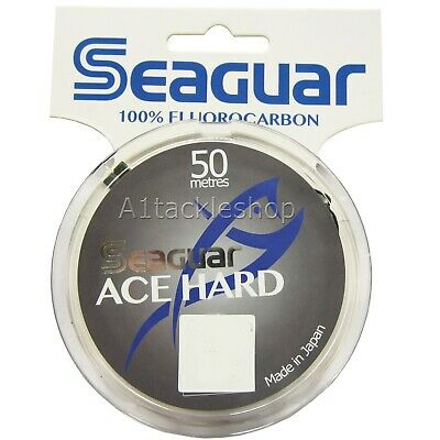 Seaguar Ace Hard 50m Fluorocarbon Trout & Salmon Fly Fishing Leader Tippet Line • 17.99£