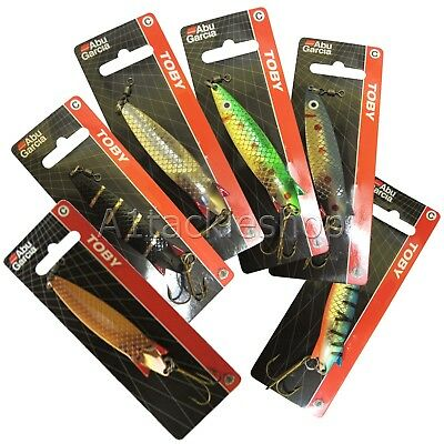 Genuine ABU Garcia Toby Salmon Sea Trout Spinner Spoon Lure Choose Size & Colour • 4.25£