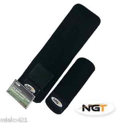 NGT Carp Fishing Neoprene 2 Pc Rod Bands + Lead Weight Pouch 1-6 Pairs • 9.95£