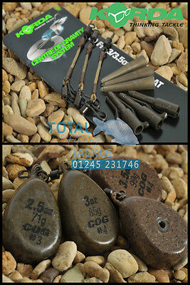 Korda COG Lead System Full Kit 'Centre Of Gravity' *Includes 3x COG Leads* • 12.99£