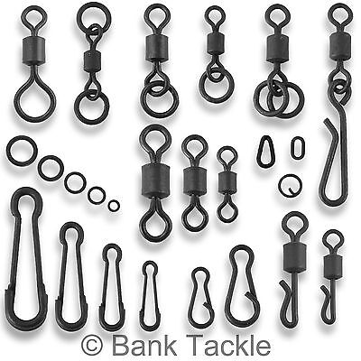 Carp Fishing Tackle Swivels Quick Change Flexi Chod Clips Rig Rings Links Loops • 27.99£