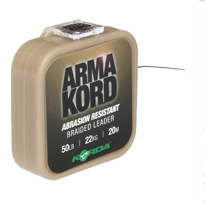 Korda Arma Kord 30lb Shockleader Braided Snag Leader - ARMK30 Carp Fishing NEW • 11.49£